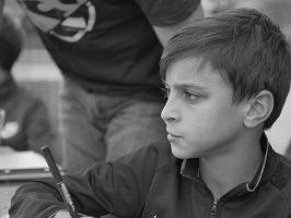 Sad boy up for school expulsion