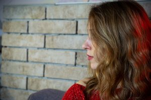 sad teen girl during school expulsion process