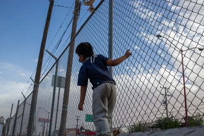Bullying of student school and fence